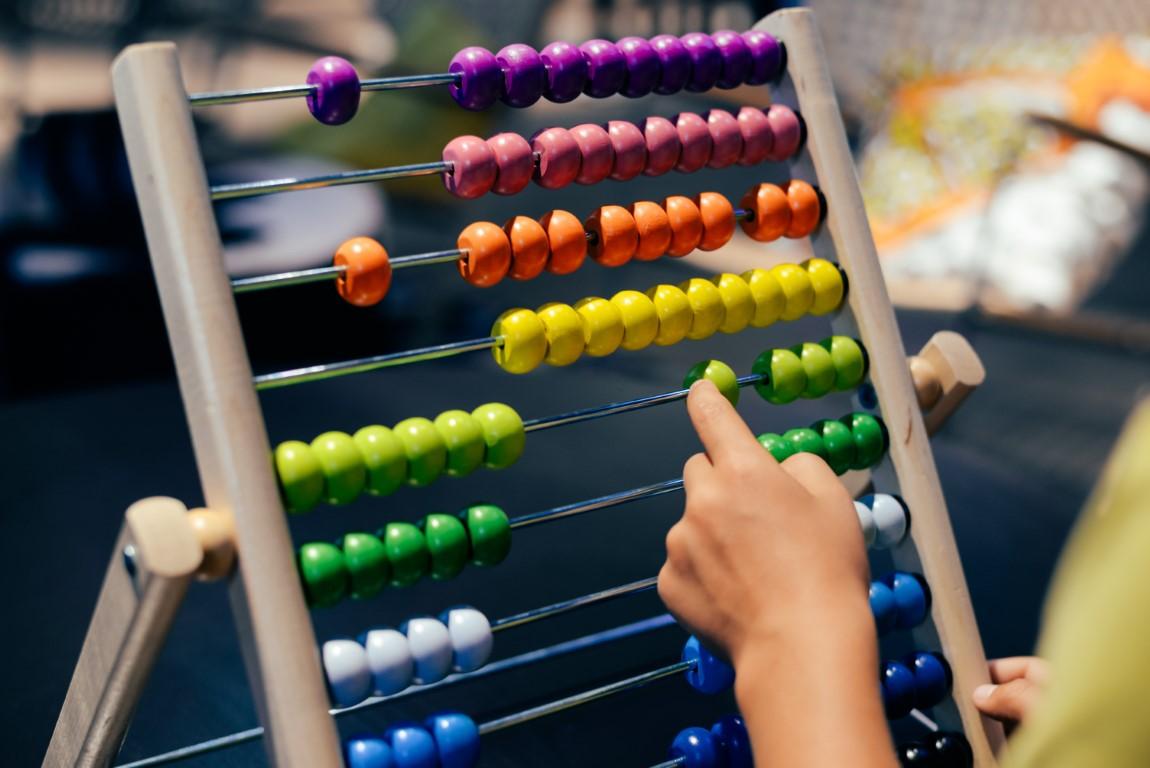boulier pour compter avec la méthode Abacus