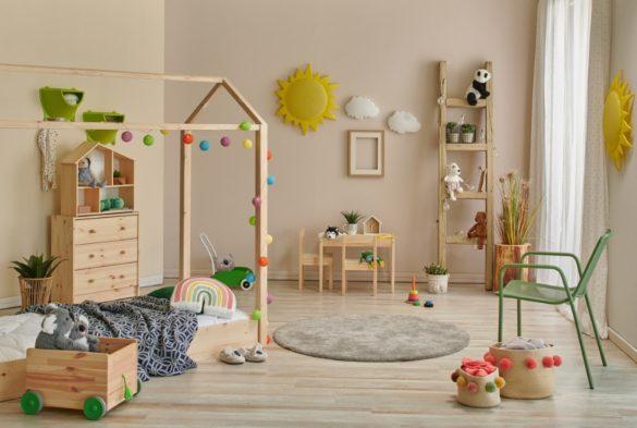 ambiance de chambre Montessori