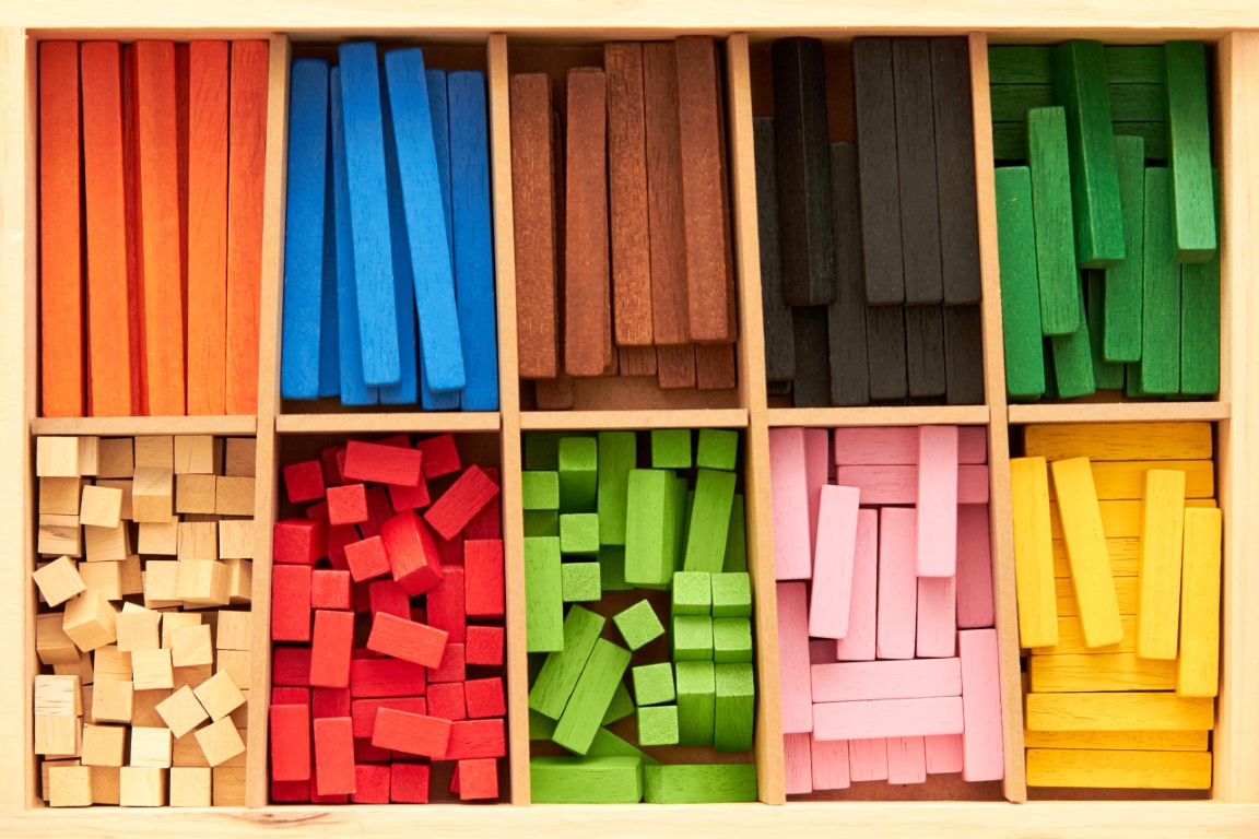 Boîte de couleurs jeux Montessori